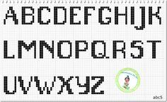 Monograma abc5 Maisculas