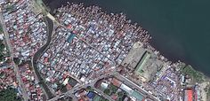Before and After: Typhoon Haiyan images - A DigitalGlobe image taken Feb. 22, 2012, shows the city of Tacloban before Typhoon Haiyan.