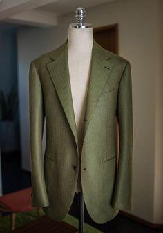 http://chicerman.com  bntailor:  Green herringbone cashmere sportscoat  #menshoes