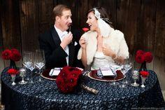 San Diego Wedding: Groom wearing our Single-Button Shawl, White Silk Bowtie, and Slim-Fit White Microfiber Shirt; 1920's Wedding Theme; A Better Deal Designer Tuxedos & Suits: 369 Bird Rock Avenue, La Jolla, CA 92037 www.abetterdealtuxedo.com