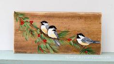 Aprender a pintar um Chickadee Pássaro, FlowerPatchFarmhouse.com