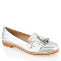 Womens Las Flat Casual Office Patent Faux Leather Fringe Tel Loafers Shoes