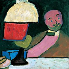 Gabrielle Munter Listening (Portrait of Jawlensky) 1909 (German Expressionism -among other things, one of its strengths was the way it encouraged women artists,at a time when most of them couldn't even vote...)