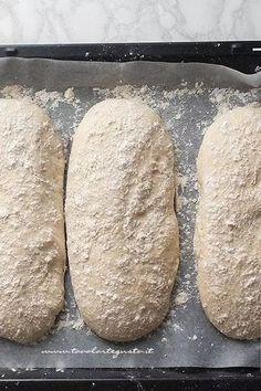 Recipe Homemade bread: Basic bread dough (quick and simple) Ciabatta, Pizza Recipes, Bread Recipes, Pan Indio, Focaccia Pizza, No Knead Bread, Easy Bread, Biscotti, My Favorite Food