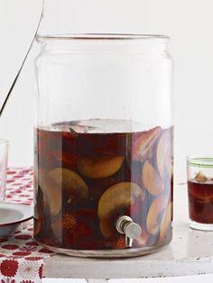 Cheers! Plum sangria #recipe.