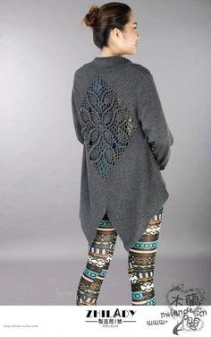 【转载】搜集到的钩织结合的毛衣(部分有图解) - 冬日暖阳的日志 - 网易博客
