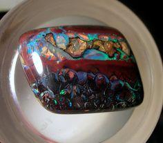 78 Carat Koroit Boulder Opal Nut Cabochon by Elementaldesigns, $3900.00