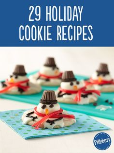 Spread holiday cheer with sugar, spice and cookies galore! Find 28 Christmas cookie recipes to inspire you during the holidays. From Melting Snowman to Nutella Cheesecake Bars, have fun baking, decorating and devoring your favorite holiday cookies.