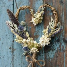 Buy Rustic Autumn Heart Wand online or contact us to order. Dried Flower Wreaths, Fall Wreaths, Dried Flowers, Flowers In Hair, Spring Flowers, Rustic Letters, Flower Crown Hairstyle, British Flowers, Flower Company