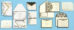 BRIDES by Gartner Studios - wedding invitations can be really pricey but you can still achieve the same look by printing them out right at home with this kit.
