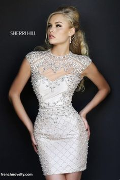 Alternate view of the Sherri Hill 4304 Cap Sleeve Cocktail Dress image