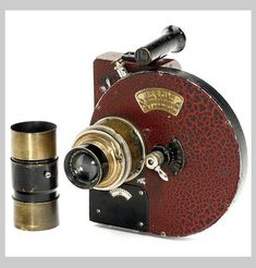 Enofilm, c. 1930   Ramponi & Bourdereau, Paris. Very rare and unusual 35mm camera for 50 shots, size 25 x 32 mm,