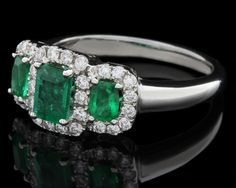 Abana Jewellery designers. Emerald and diamond engagement ring