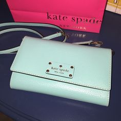 HP! Kate Spade Natalie Clutch/Crossbody bag Kate Spade Natalie Clutch/Crossbody bag, BNWT!!! This is a never used teal colored Kate Spade beauty! NO TRADES! Please see my other designer items! 20% off when you bundle 2 items! kate spade Bags Clutches & Wristlets