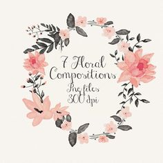 Floral compositions by Webvilla on @creativemarket