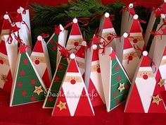 Free Christmas Crafts - Paper Crafts - Santa Claus Gift Box- may modify to make as cards/Christmas ornaments. Definitely will make these with the residents. (Cool Crafts With Paper) Christmas Paper Crafts, Christmas Gift Wrapping, Christmas Projects, Christmas Art, All Things Christmas, Winter Christmas, Holiday Crafts, Christmas Decorations, Christmas Ornaments