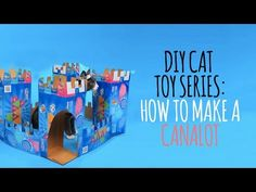 (Cat DIY Projects) Welcome to the Friskies Do-It-Yourself Toy Maker Series! Today, we're building the Canalot. Watch this video to see how it's done! You'll need: - 5 empty Friskies . >>> Find out more at the image link. Diy Crochet Cat Bed, Kitty King, Diy Cat Scratching Post, Purina Friskies, Diy Cat Toys, Cat Hammock, Cat Scratcher, Cool Diy Projects, Cats