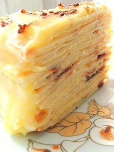 The best recipes for homemade food!: Fabulously delicious cake with curd custard. Russian Cakes, Russian Desserts, Russian Recipes, Baking Recipes, Cake Recipes, Dessert Recipes, Good Food, Yummy Food, Sweet Pastries