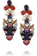 Tribal Patchwork palladium-plated Swarovski crystal earrings |  ERICKSON BEAMON