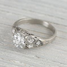 Image of 1.18 Carat Vintage Engagement Ring