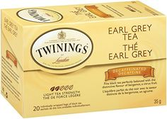 Twinings Decaf Black Tea, Earl Grey, 20 Count Bagged Tea (6 Pack) -- Check out this great product.