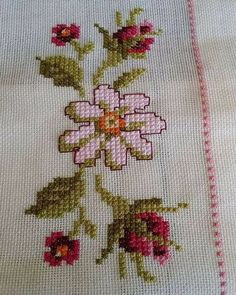 This Pin was discovered by şer Cross Stitch Sea, Beaded Cross Stitch, Cross Stitch Borders, Cross Stitch Flowers, Modern Cross Stitch, Cross Stitch Kits, Cross Stitch Designs, Cross Stitching, Cross Stitch Embroidery