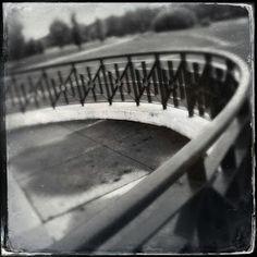 Railing at Baker Park.