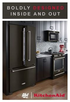 Boldly designed inside and out. Build the kitchen of your dreams with Kitchenaid Black Stainless Steel Appliances, now available at Abt. Click through to shop our collection today.