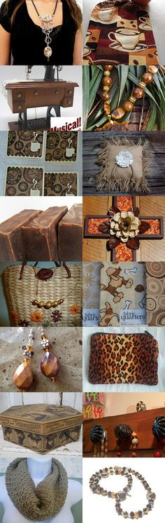 Earthy Browns  September  LGC Treasury by Linda on Etsy--Pinned with TreasuryPin.com