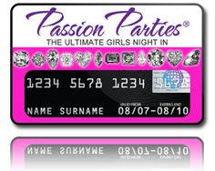 """""""Pink Diamonds"""" credit card cover for Passion Parties by #CreditCovers $9.99"""