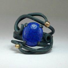 Starry Night Series - Lapis Lazuli Night Ring. $140.00, via Etsy.