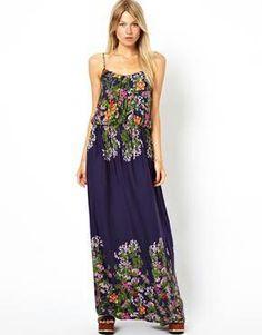 Oasis daffodil garden border maxi dress #ASOS