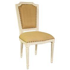 Noir Anton Weathered White Side Chair @Layla Grayce #RebekahLinkowski