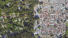 """Photographer Johnny Miller's """"Unequal Scenes"""" shows wealth discrepancy from above."""