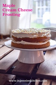 Skip the refined sugars, and use maple syrup to sweeten your frosting. My kids love this Maple Cream Cheese Frosting. Get the recipe at In Jennie's Kitchen.