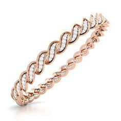 areola diamond bangle