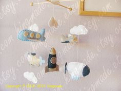 Boy Mobile  Baby Mobile  Decorative Nursery Mobile by hingmade