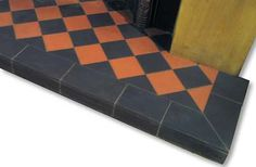 Fireplace Quarry Tile Hearths from Victorian Fireplace UK Log Burner Fireplace, Inglenook Fireplace, Cast Iron Fireplace, Victorian Fireplace, Fireplace Hearth, Tiled Fireplace, Hall Flooring, Diy Flooring, Fireplaces Uk