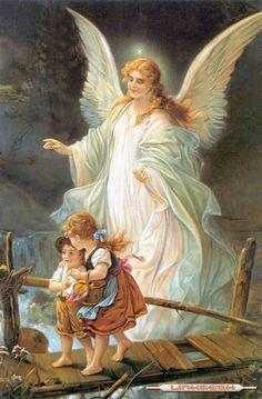 Angelito de mi guarda, mi dulce compañia, no me desampares ni de noche ni de dia. Hasta que me pongas en paz y alegria con todos lo angeles Jesus, Jose, y Maria.