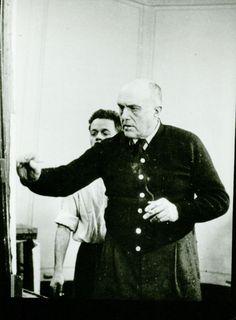 Max Beckmann in the art studio