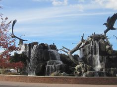 Roundabout sculpture in Idaho Falls, ID