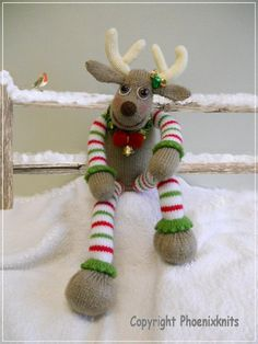 "Knitting - Free Pattern: ""Oliver reindeer"" - Level: easy."