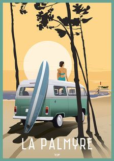 Royan poster The market DOZ vintage posters Vintage Beach Posters, Surf Vintage, Vintage Photos, Retro Vintage, Vintage Woman, Vintage Black, Retro Poster, Poster S, Cthulhu Art