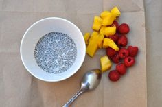 Coconut Chia Seed Pudding |   Add Stevia blended almonds/ 1 c. coconut milk