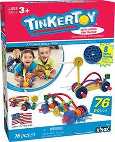 TINKERTOY Wild Wheels Building Set 76 Pieces Ages 3 Preschool Educational Toy *** Visit the image link more details. Preschool Education, Preschool Toys, Autism Education, Toddler Toys, Kids Toys, Toddler Activities, Building Toys For Kids, Engineering Toys, Tinker Toys