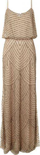adrianna papell evening - Art Deco Beaded Dress