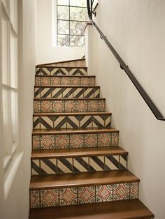 Decorating Stair Risers Design, Pictures, Remodel, Decor and Ideas