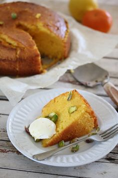 Citrus Polenta Cake with Cardamom Syrup | Bits of Carey