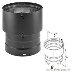 DuraVent 8860 68 Double Wall Stovepipe Increaser ** Continue to the product at the image link.-It is an affiliate link to Amazon. #FireplacesAccessories Chimney Cap, Fireplace Accessories, Wood, Fireplaces, Stuff To Buy, Stove, Image Link, Amazon, Black