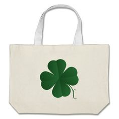 Large Shamrock Canvas Bags   •   This design is available on t-shirts, hats, mugs, buttons, key chains and much more   •   Please check out our others designs at: www.zazzle.com/ZuzusFunHouse*